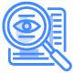 Icono relacionado con actividad transparente (lupa)