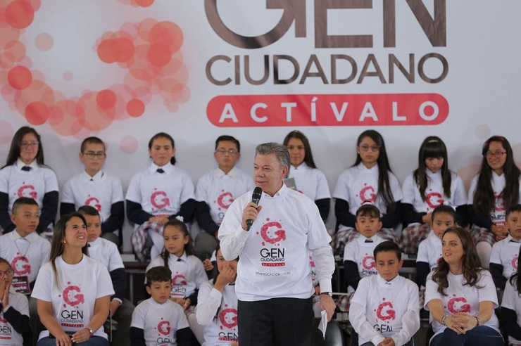 dd9ba46b39 Presidente Juan Manuel Santos lanzó oficialmente la camapaña Gen Ciudadano  desde la I.E. Leonardo Posada Pedraza