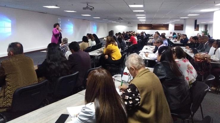 Directora de Calidad Danit Torres reunidas con rectores de Escuelas Normales Superiores
