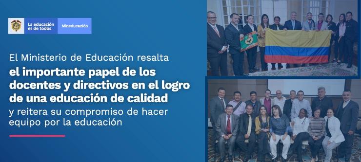 Con estas acciones el Ministerio de Educación reitera su compromiso de hacer equipo por la educación del país
